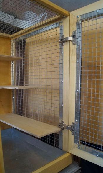 защита двери и каркаса от прогрызаний за сеткой