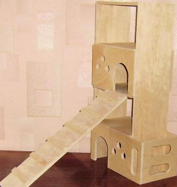 4х этажный игровой дом-сеница
