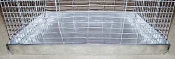 Поддон металл для стандарт.клетки, 38х53см (и др.размеры под заказ)