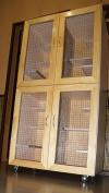 2х этажная витрина(c перегородками) для шиншилл